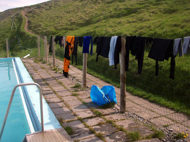 First chores were waiting– some laundry needed to be done!