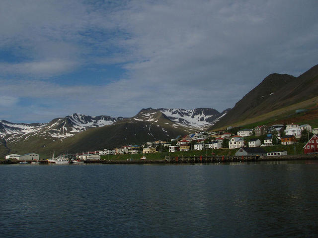 Approaching Siglufjördur (the northernmost town in Iceland) for a day's break.