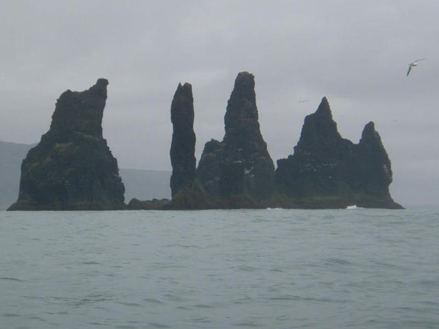 Vik is famous for its fabulous sea stacks