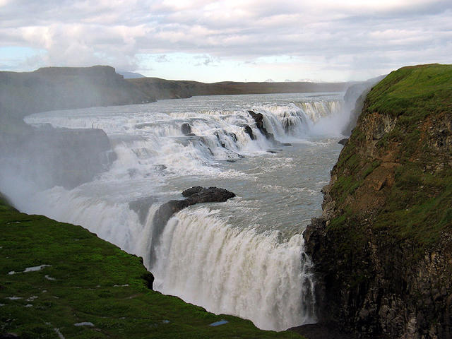 The thundering Gullfoss waterfall.