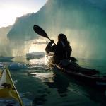 Illuminated arches of ice beckon…