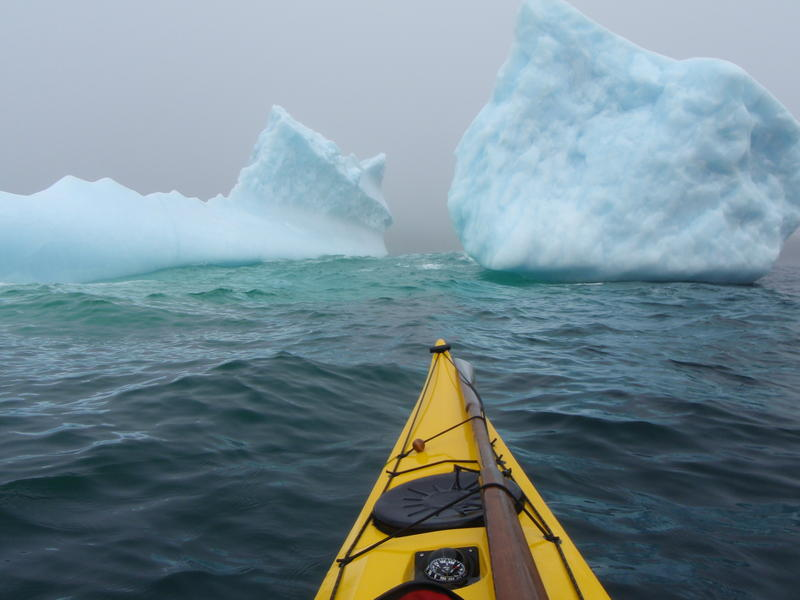 "Icebergs are a common sight along Newfoundland's  ""Iceberg Alley"""