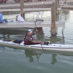 Leaving Flamingo -- prepared for a night-crossing of Florida Bay