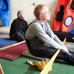 Classroom work includes proper paddle extension understanding of bracing