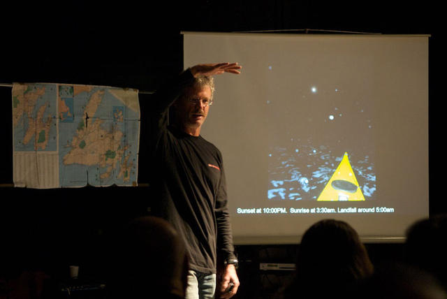 Shaking off jetlag, I gave a lecture about my circumnavigation of Newfoundland  in downtown Gothenburg.