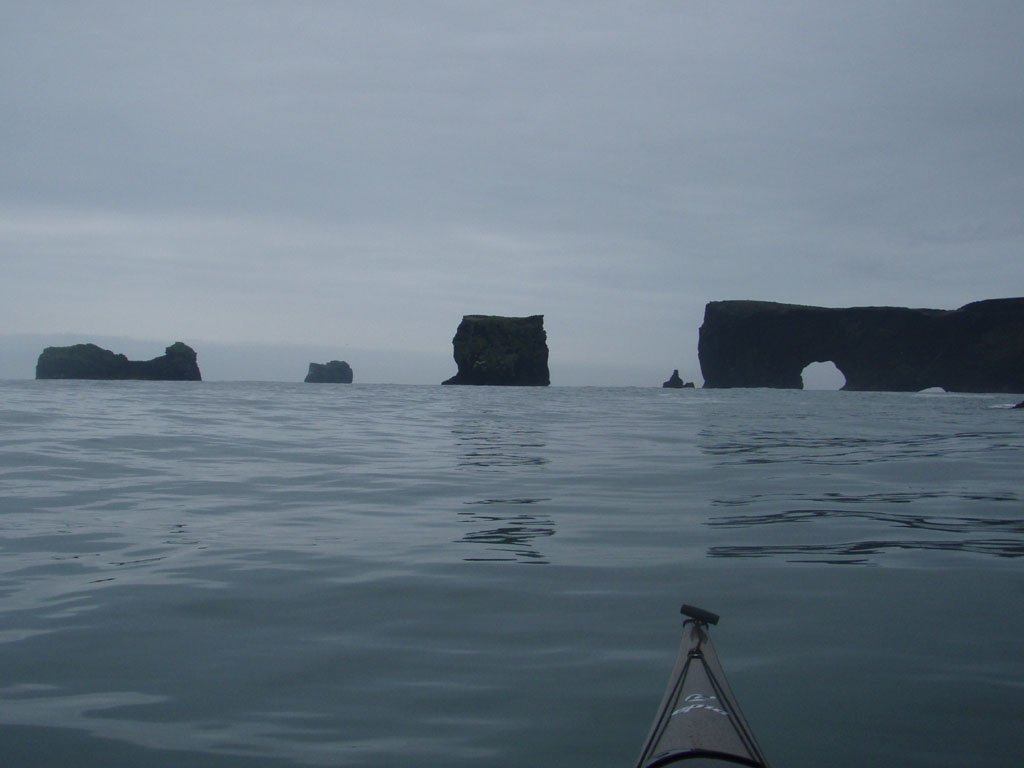 The famous seastacks and arches at Vik